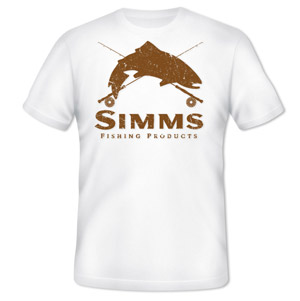 <font color=red>On Sale - Clearance</font><br>Simms Graphic Crest T-Shirt - SS - White
