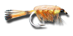 Tied Down Caddis - Yellow