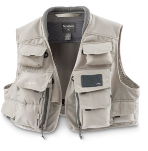 <font color=red>On Sale - Clearance</font><br>Simms Vertical Guide Vest - Khaki