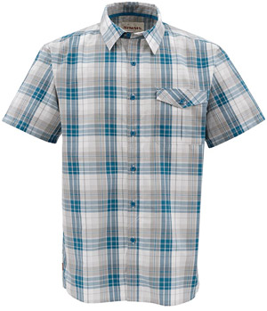 <font color=red>On Sale - Clearance</font><br>Simms Bimini SS Shirt - Ink Plaid