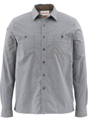 <font color=red>On Sale - Clearance</font><br>Simms Black's Ford Flannel Shirt - Charcoal