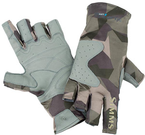 <font color=red>On Sale - Clearance</font><br>Simms Solarflex Guide Glove - Camo Loden