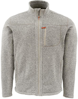 <font color=red>On Sale - Clearance</font><br>Simms Rivershed Sweater - Full Zip - Cork