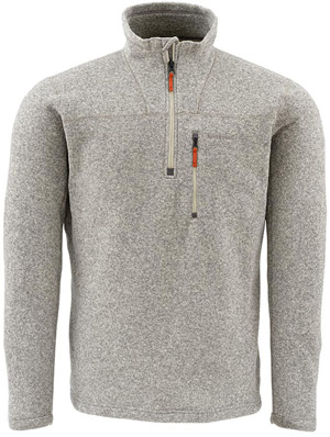 <font color=red>On Sale - Clearance</font><br>Simms Rivershed Sweater - Quarter Zip  - Cork