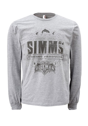 <font color=red>On Sale - Clearance</font><br>Simms T-Shirt - Insignia - LS - Ash Grey