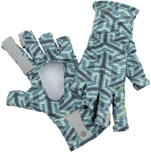<font color=red>On Sale - Clearance</font><br>Simms Solarflex Sunglove - Tri Geo Nightfall
