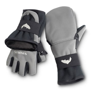 <font color=red>On Sale - Clearance</font><br>Simms WindStopper Foldover Mitt - Gunmetal