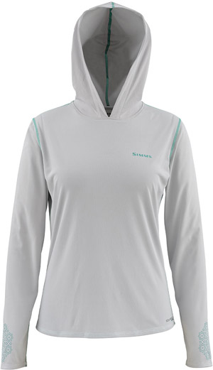 <font color=red>On Sale - Clearance</font><br>Simms Women's Solarflex Hoody - Grey